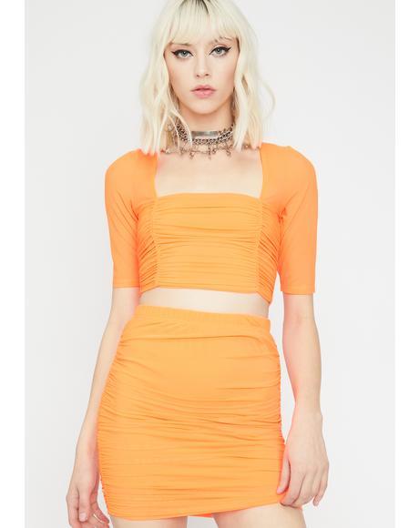 Glow On Sis Skirt Set