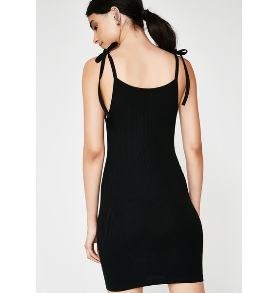 Onyx Don't Call Me Bodycon Dress