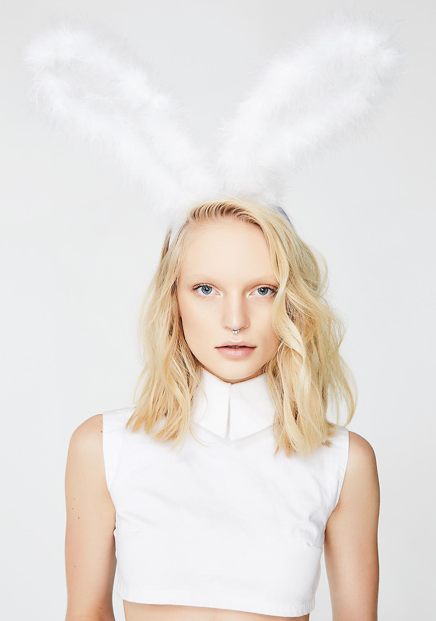Hop Around Fluffy Bunny Ears Headband