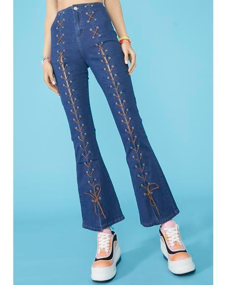 Beach Break Lace Up Jeans