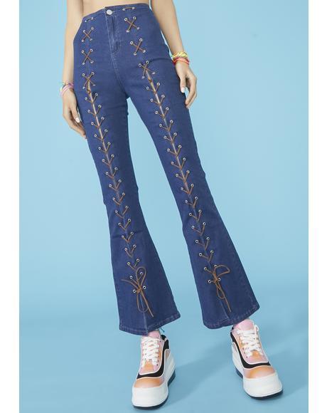 Beach Break Lace Up Jeans