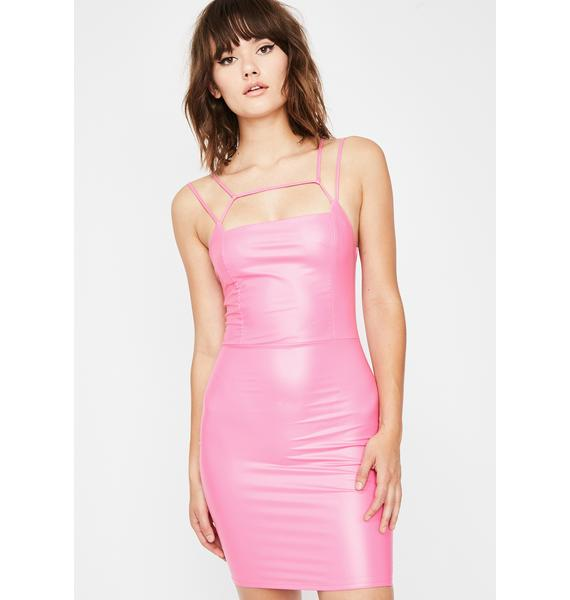 Bubblegum Femmebot Vinyl Dress