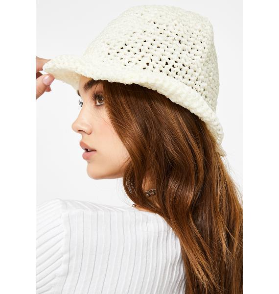 Cloudy Broad Horizons Crochet Bucket Hat