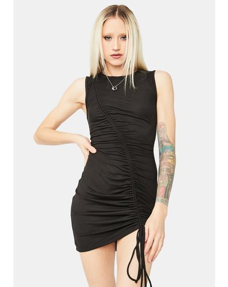 Ride This Feeling Ruched Tank Dress