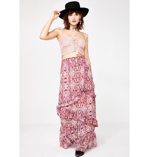 Glamorous Desert Dame Maxi Skirt