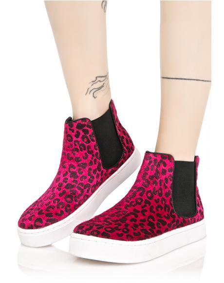 Josie High Top Leopard Sneakers