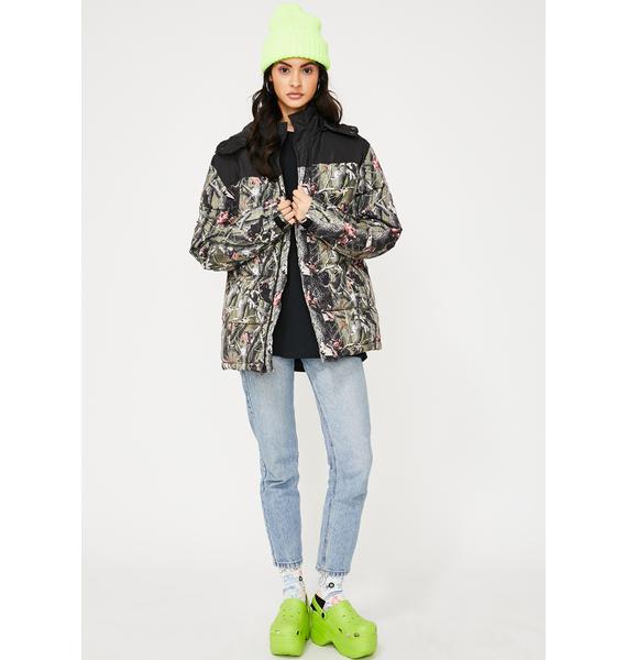 RIPNDIP Nerm N' Jerm Tree Camo Puffer Jacket