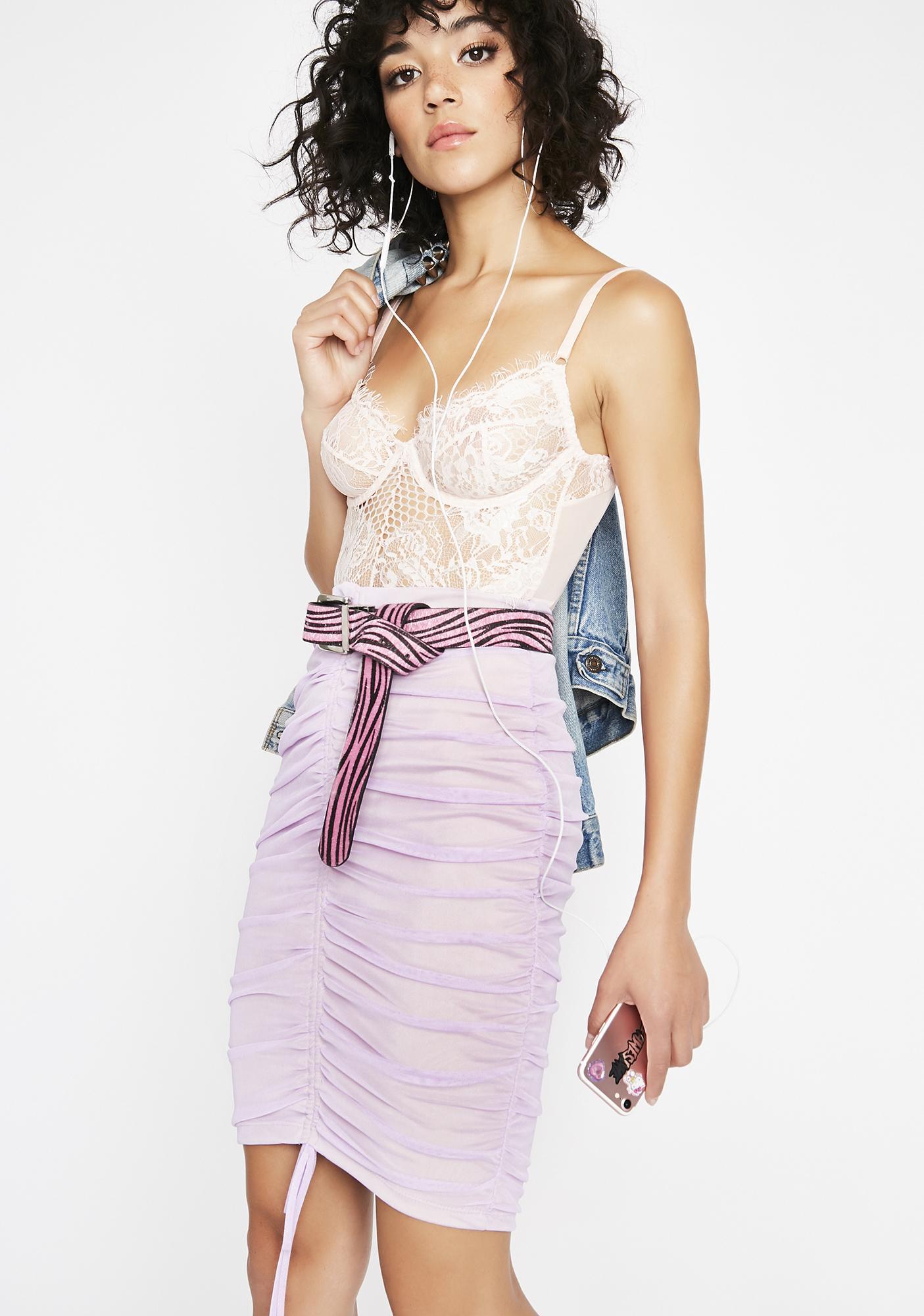 Lilac Kiss It Better Bodycon Skirt