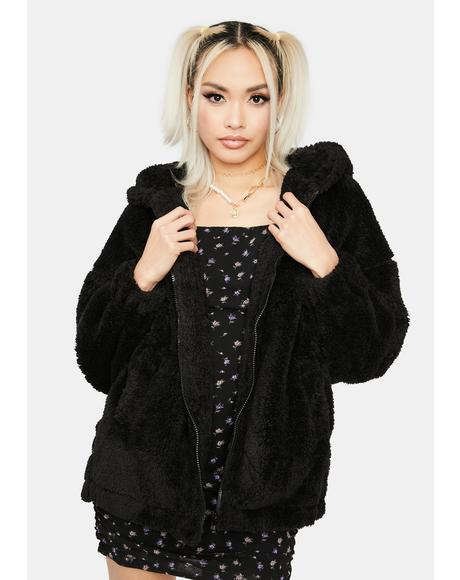 Onyx Cuddle Up Teddy Jacket