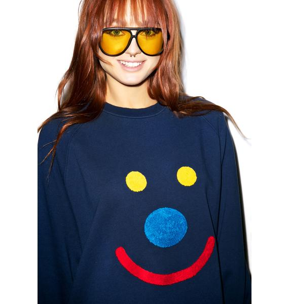 Lazy Oaf Happy Face Sweatshirt