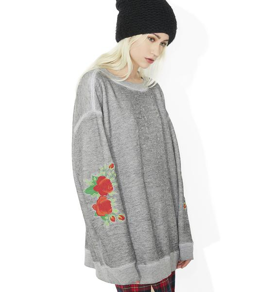 Wildfox Couture Roses Embroidery Roadtrip Sweater