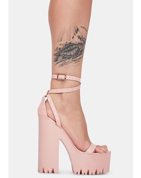 Blush Belush Platform Heels