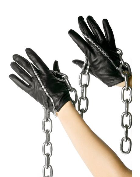 Twisted Zip Gloves