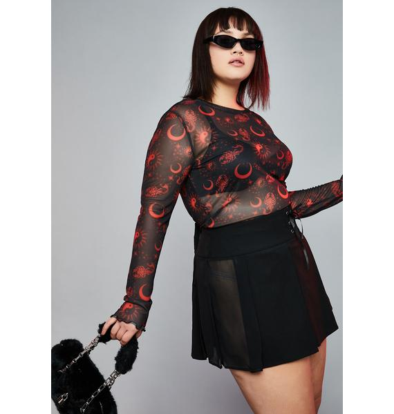 HOROSCOPEZ True Bragging Rights Pleated Skirt