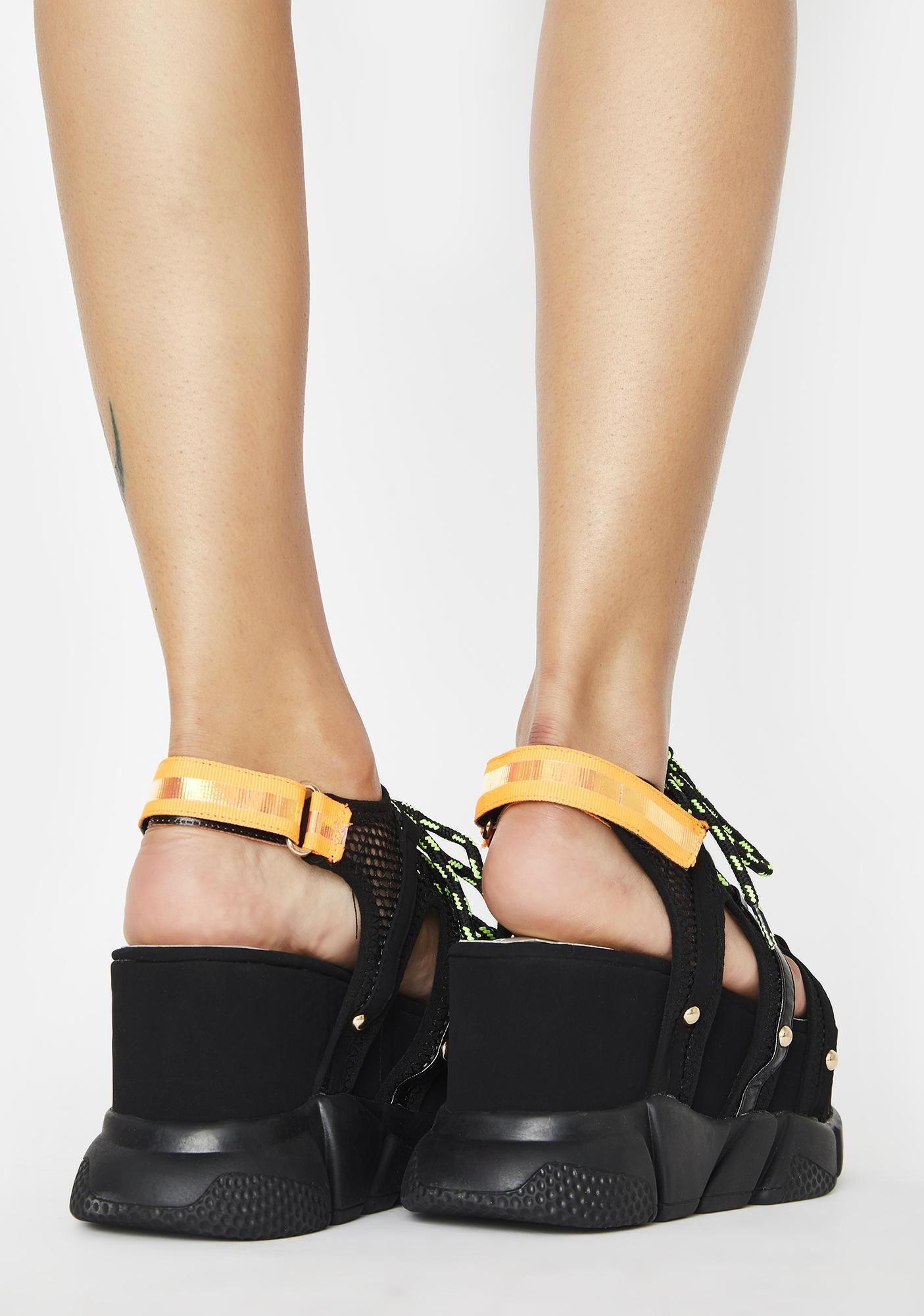 Up In Space Platform Sandals
