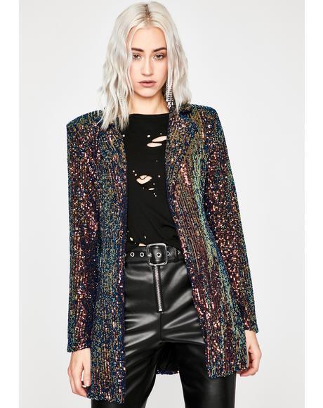 Chic Shine Sequin Blazer