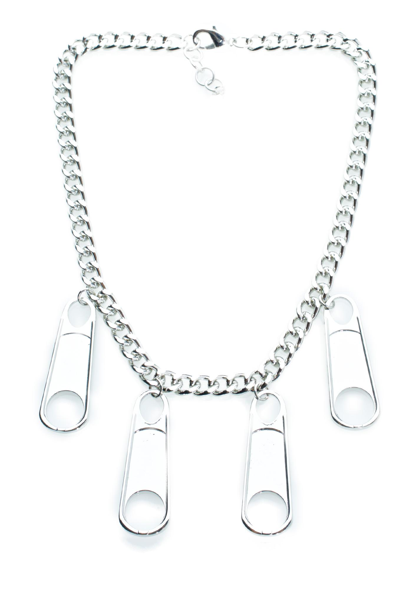 Cheap Monday Zipper Necklace