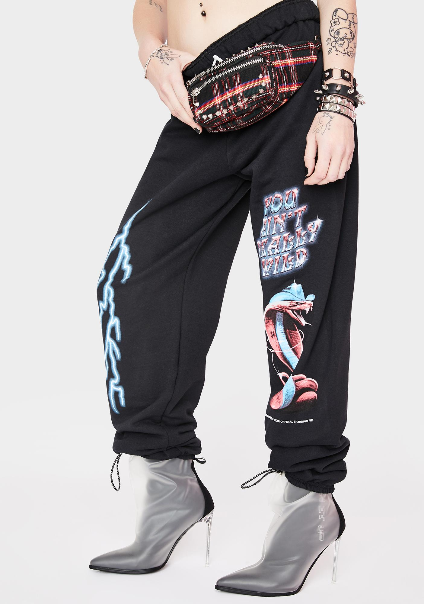 Samborghini Chrome Cobra Graphic Sweatpants