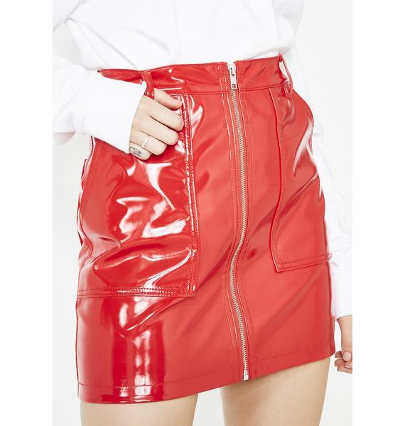 x-Girl x Nona9on Enamel Skirt
