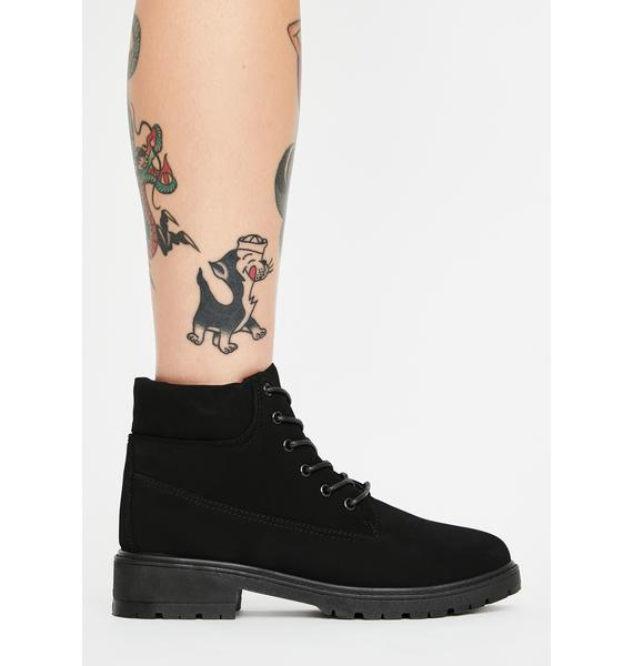 Trek On Lace Up Booties