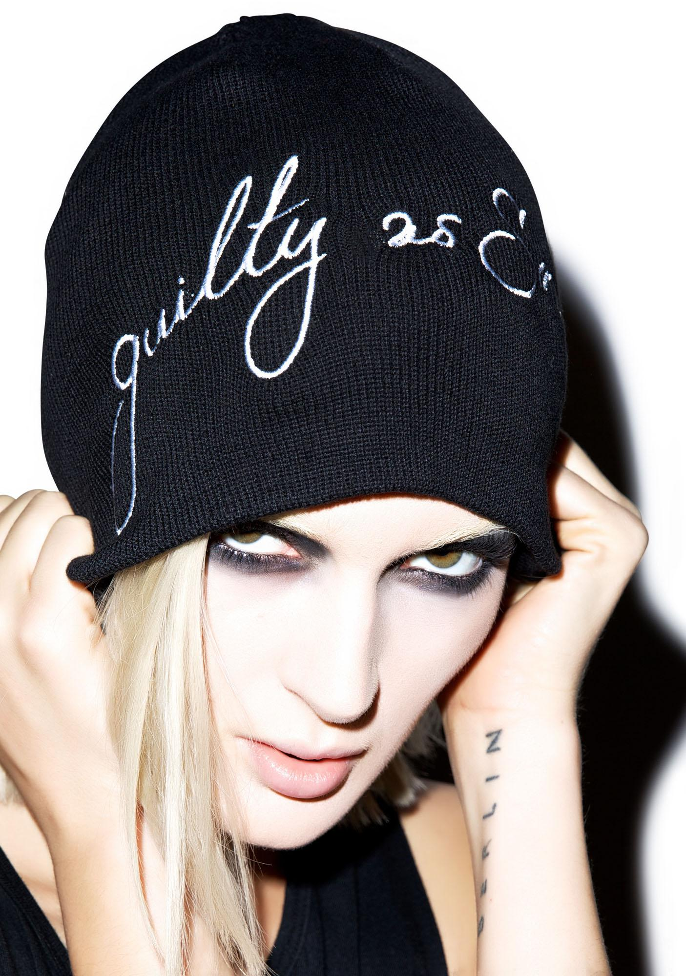 Black Scale Guilty As Sin Beanie
