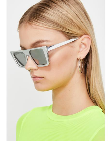 Chrome Euphoric Fix Holographic Sunglasses