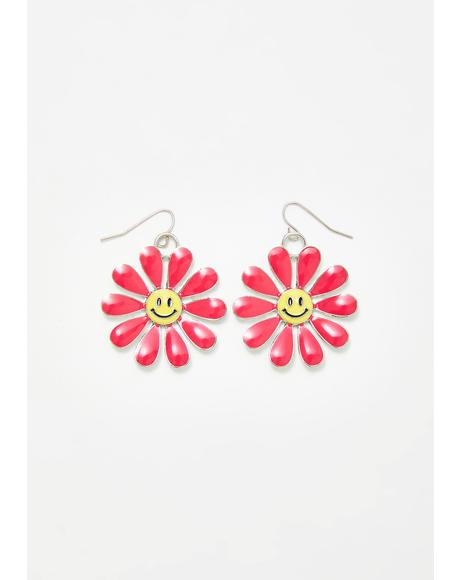 Sweet Smiles Flower Earrings
