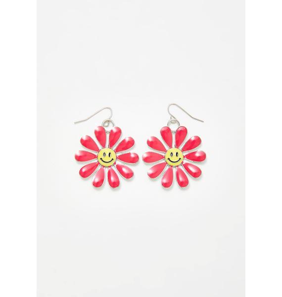 dELiA*s by Dolls Kill Sweet Smiles Flower Earrings