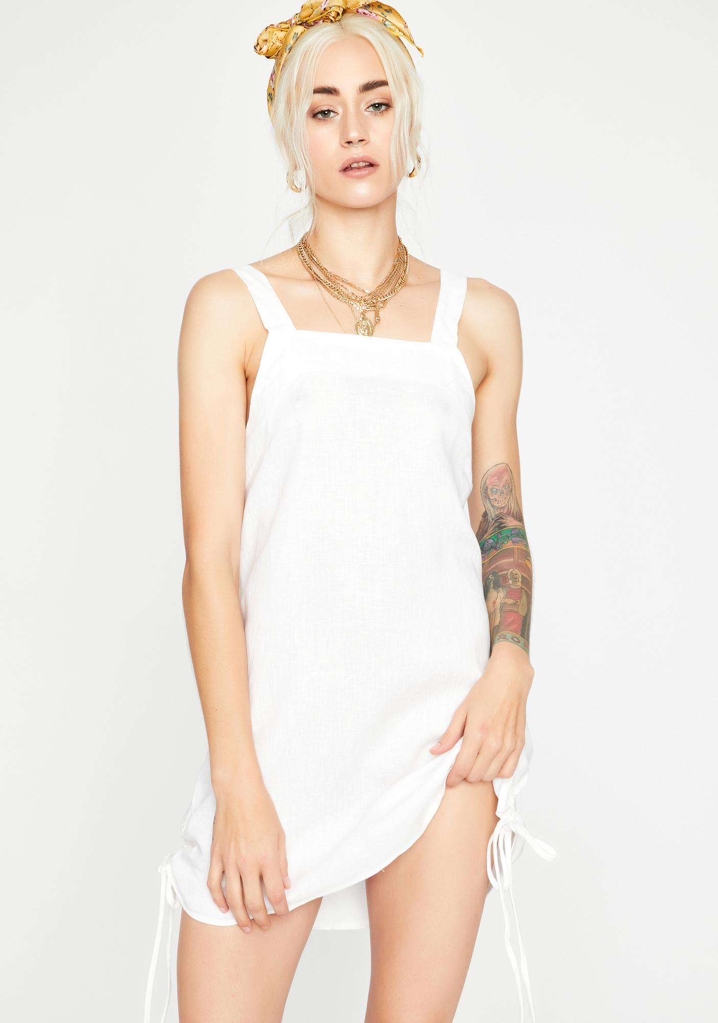 Meet At The Park Ruched Dress
