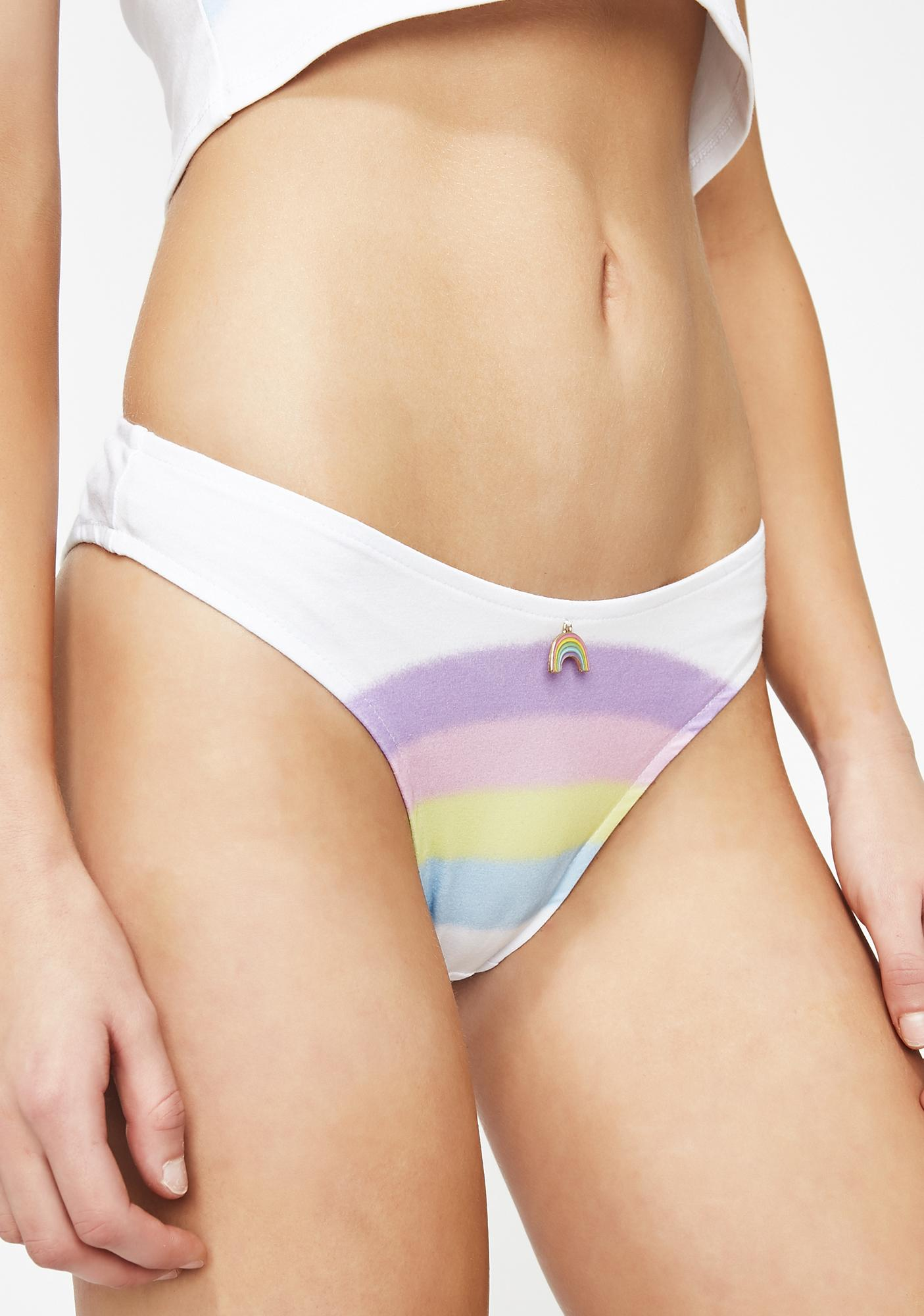 Sugar Thrillz Heartbreaker Rainbow Panty