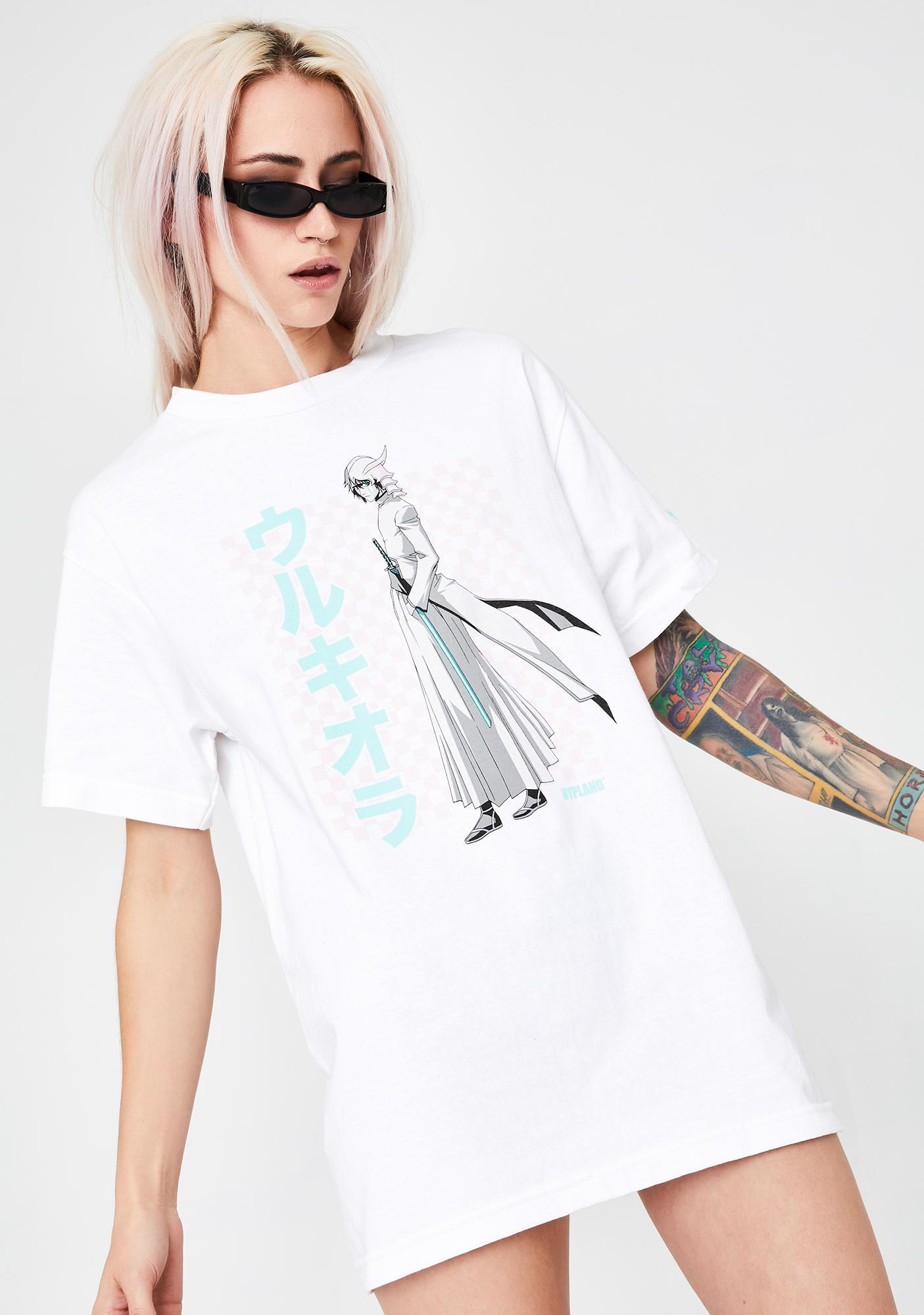 HYPLAND X Bleach White Ulquiorra Graphic Tee