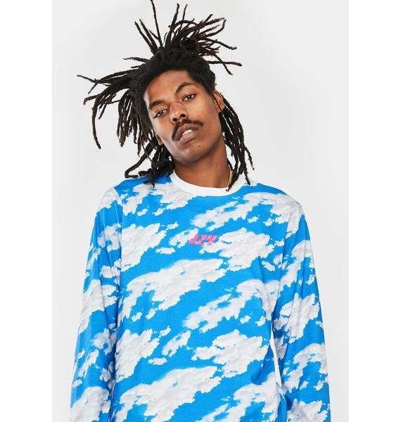 Lazy Oaf Head In The Clouds Long Sleeve Tee