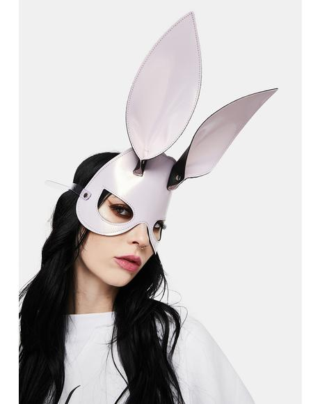 Ice Pink Bunny Ears Eye Mask