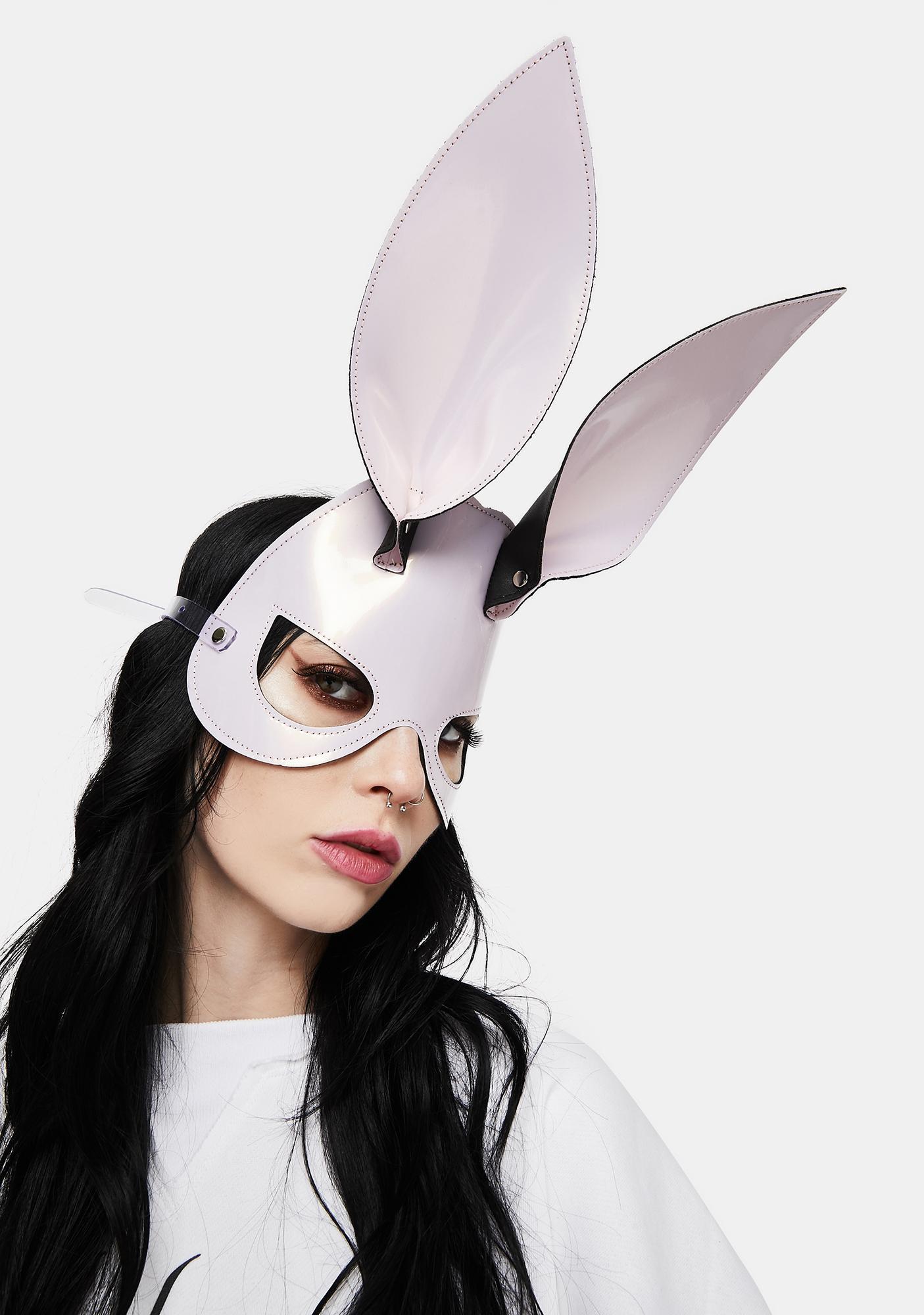 Funk Plus Ice Pink Bunny Ears Eye Mask