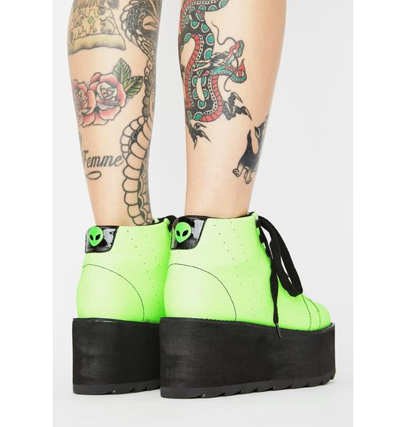 Y.R.U. Lala Glow In The Dark Platform Sneakers