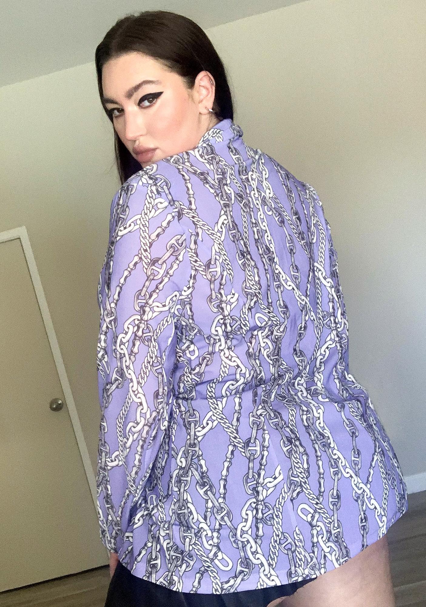 Lavender Luxe Lock Me Up Boyfriend Blazer