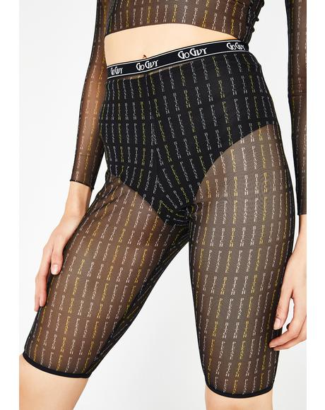 Bitch Please Mesh Cycling Shorts