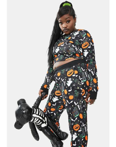 Miss Slay All Doomsday Long Sleeve Halloween Lounge Top