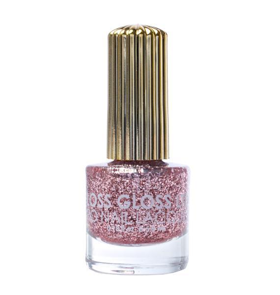 Floss Gloss The Pink Nugget Glitter Nail Polish