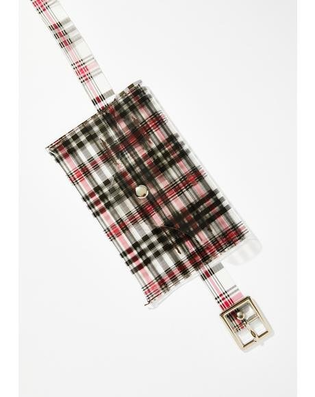 Tell Me Again Plaid Belt Bag
