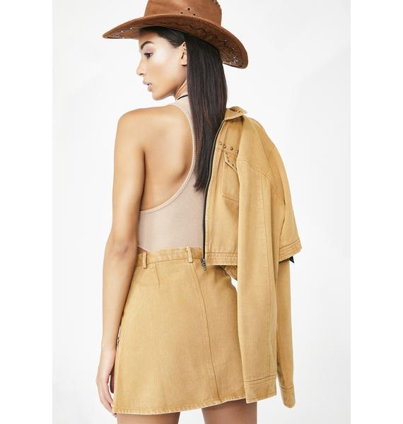 Sacred Hawk Twill Skirt