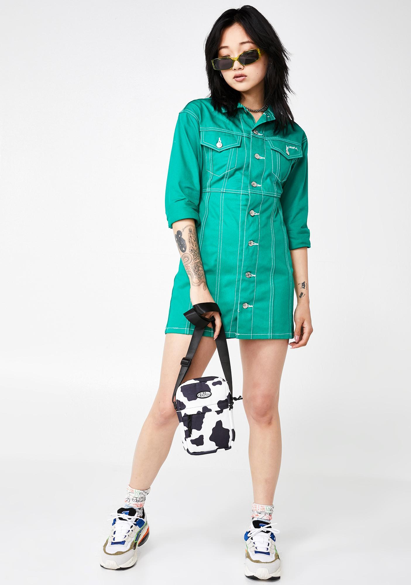 x-Girl Trucker Shirt Dress