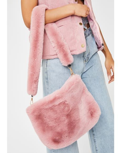 Pretty Below Zero Baby Fuzzy Bag