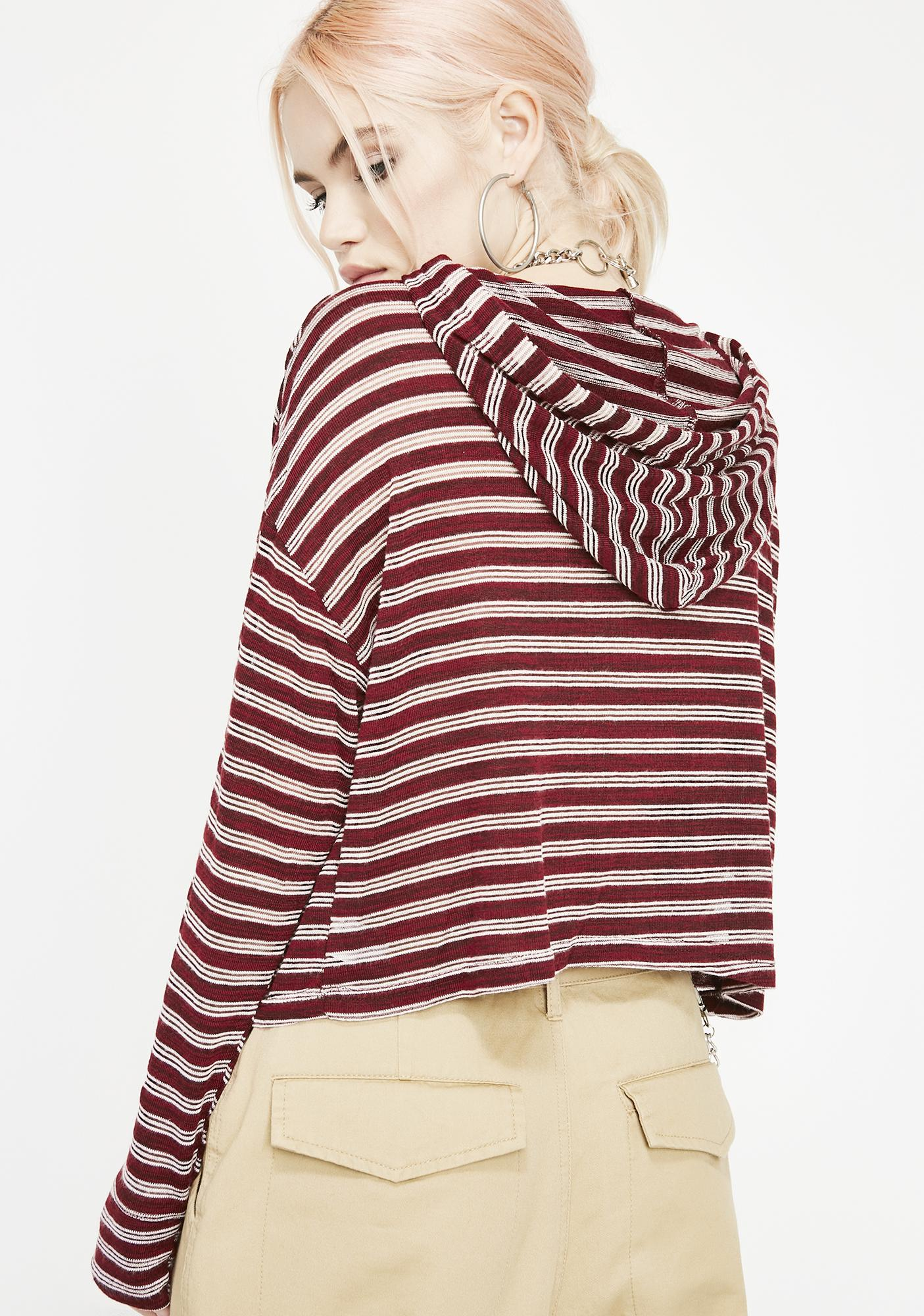 Coolin' Out Cropped Hoodie