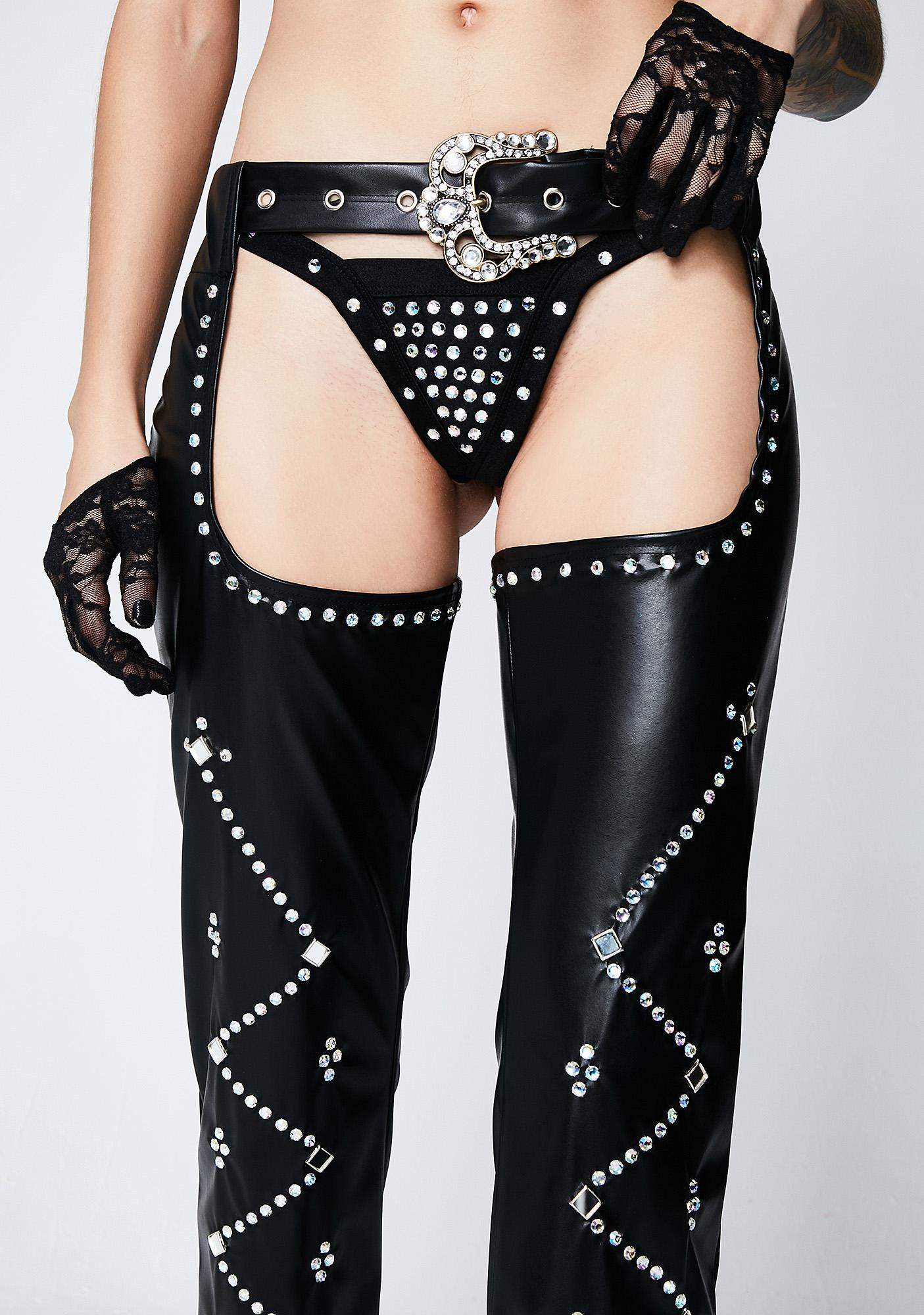 Reckless Outlaw Rhinestone Chaps