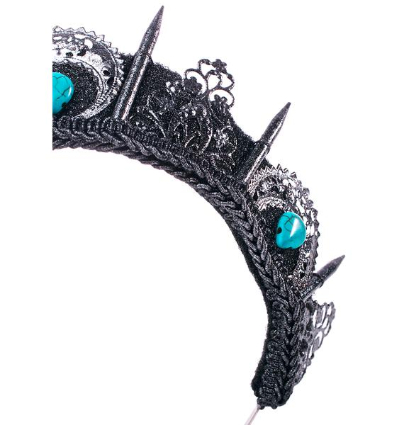 Loschy Designs Silver And Turquoise Crown