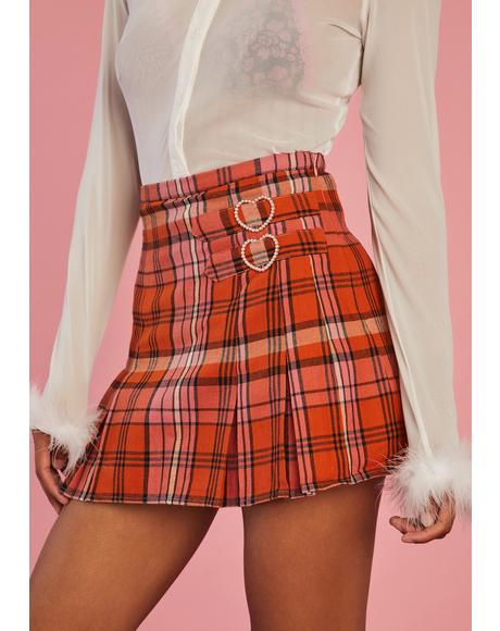 Everlasting Love Plaid Skirt