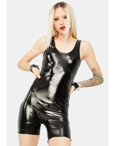 Can't Stop Me Vegan Leather Romper