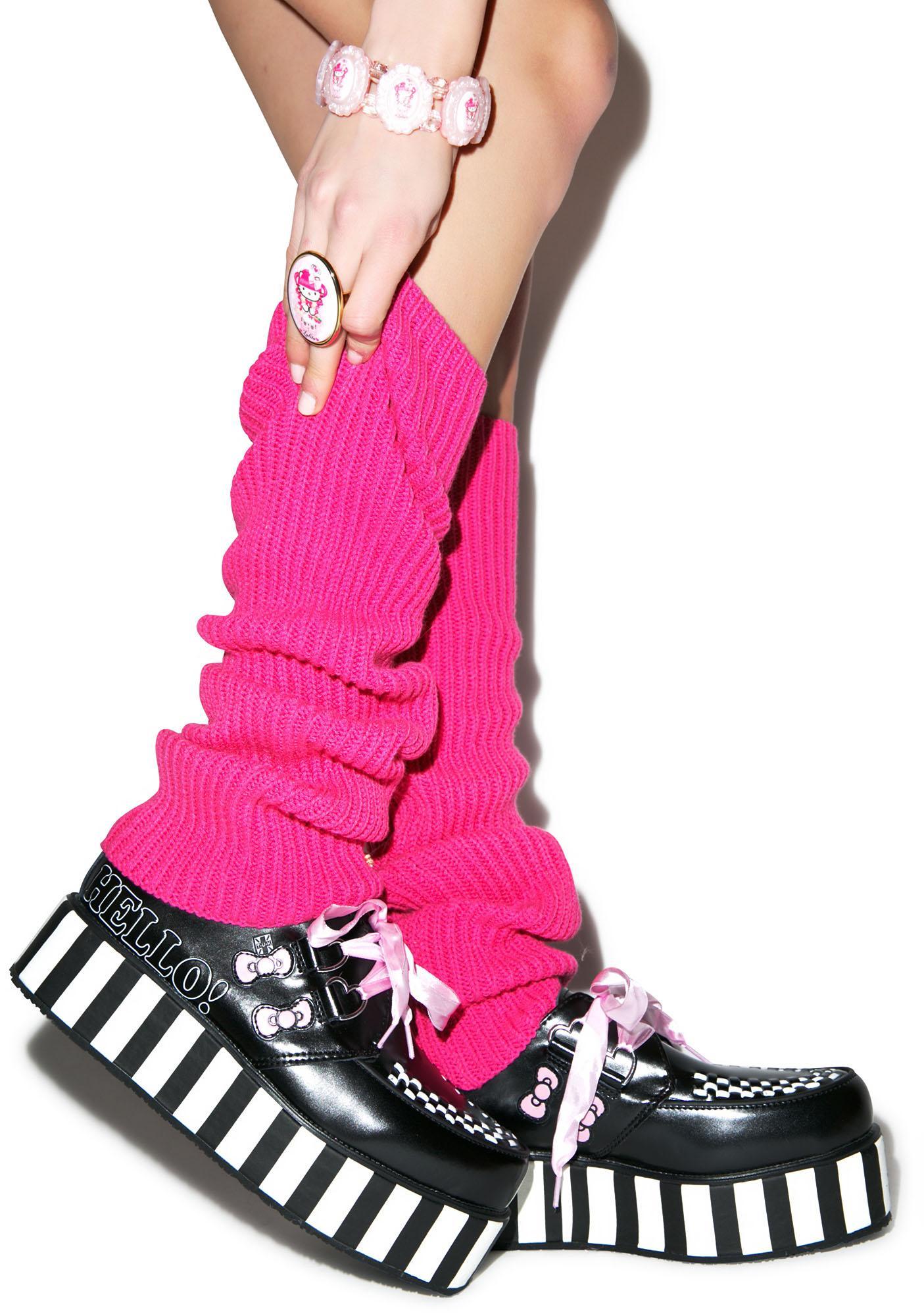 b0df62c97 T.U.K. Pink Ribbon Hello Kitty Bow Creepers | Dolls Kill