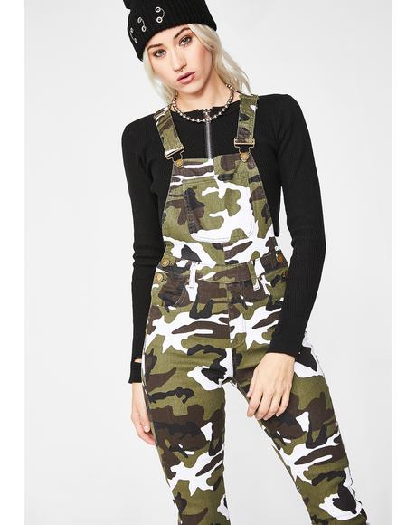 Baddie Potential Camo Overalls